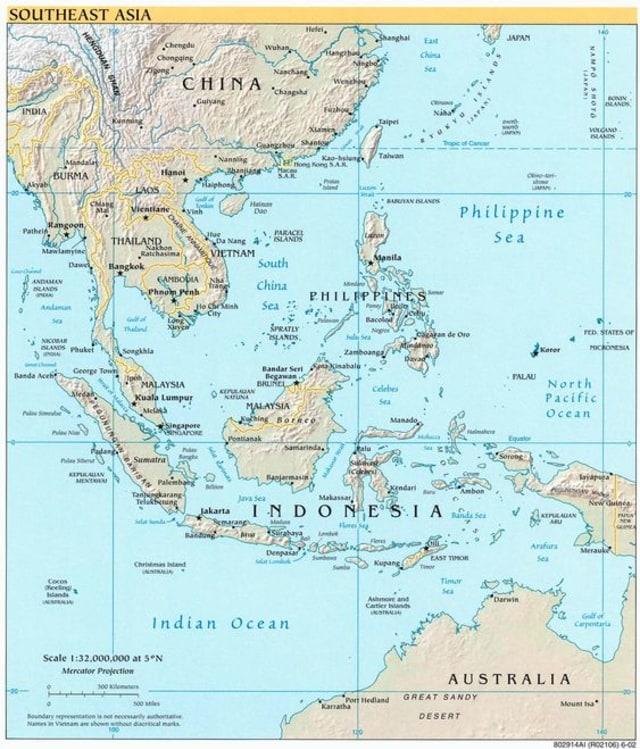 Kondisi Geografis Asia Tenggara yang Mencakup 11 Negara (553888)