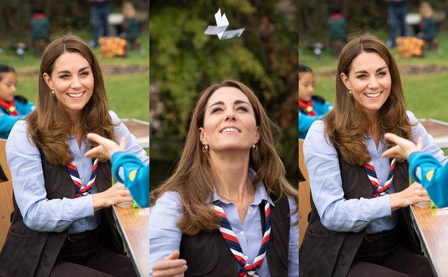 Ikut Kegiatan Pramuka, Kate Middleton Bergaya Kasual dengan Rompi & Syal (37563)