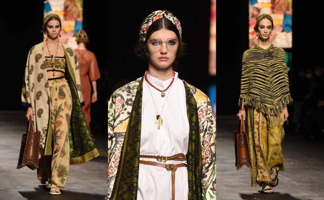 Bikin Bangga! Kain Endek Bali Warnai Koleksi Dior di Paris Fashion Week 2021 (389560)