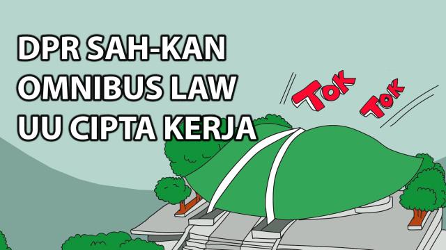 Komik: DPR Sahkan Omnibus Law UU Cipta Kerja (183925)