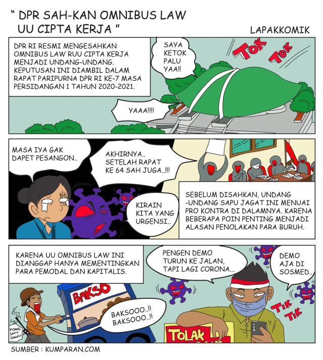 Komik: DPR Sahkan Omnibus Law UU Cipta Kerja (183926)