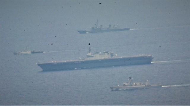 Aksi Kapal Perang TNI AL dan AL Jepang Latihan Bersama di Natuna Utara (3)