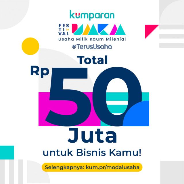 Giveaway: Menangkan Total Rp 50 Juta di Festival UMKM #TerusUsaha (52030)