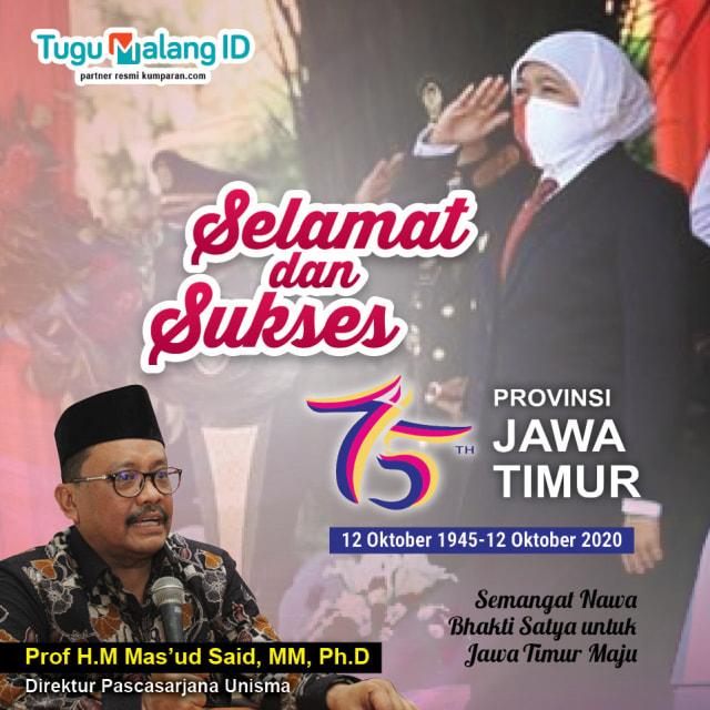 75 Tahun Jawa Timur, Seperti Ini Kinerja Khofifah-Emil Menurut Guru Besar Unisma (46728)