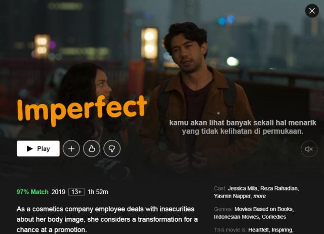 Streaming Film Imperfect: Karier, Cinta dan Timbangan ...