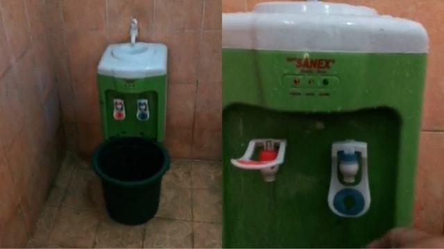 Dispenser di dalam kamar mandi mendadak menjadi viral. Seorang pengguna TikTok @aldonibagus mengunggah sebuah video yang menunjukan penempatan dispenser yang tidak umum.