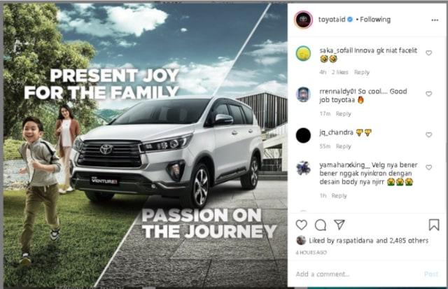 Kata Toyota Soal Kijang Innova Facelift yang Minim Ubahan (28623)