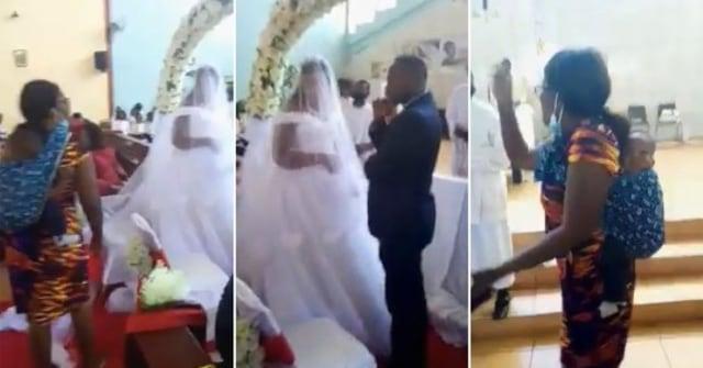 Sambil Gendong Anak, Istri Gagalkan Pernikahan Suami & Perempuan Selingkuhan (20727)