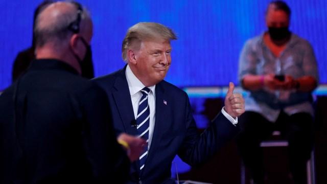 Trump dan Moderator Terlibat Debat Panas soal Konspirasi QAnon (80992)