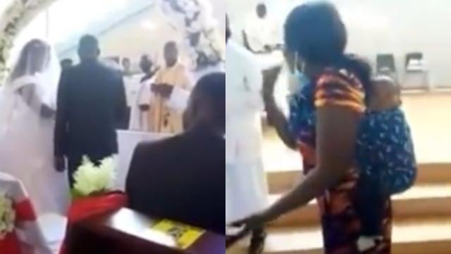 Detik-Detik Istri Bawa Anak Gagalkan Pernikahan Suami dengan Pelakor di Gereja (67454)