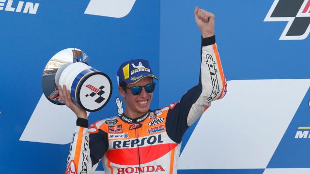MotoGP Aragon: Alex Marquez Finis Ke-2, Jorge Lorenzo Angkat Topi (13603)