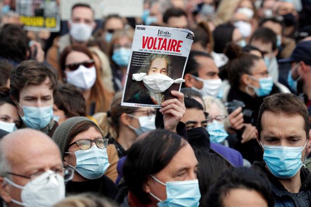 PM Prancis Ikut Aksi Solidaritas Terhadap Guru yang Dipenggal karena Kartun Nabi (125166)