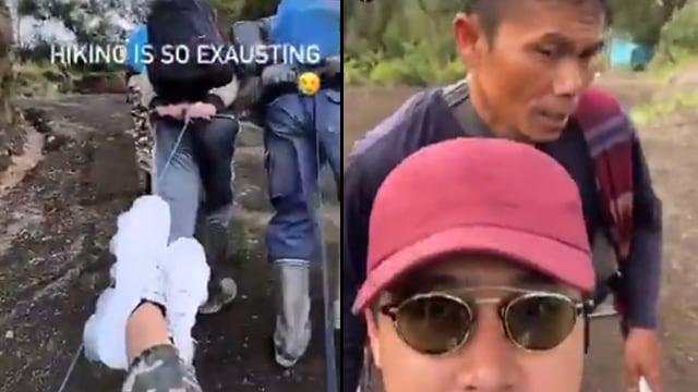 Usai Jogging Dikawal Polisi Beredar Video Diduga Richard Hiking Ditandu bak Raja (339992)