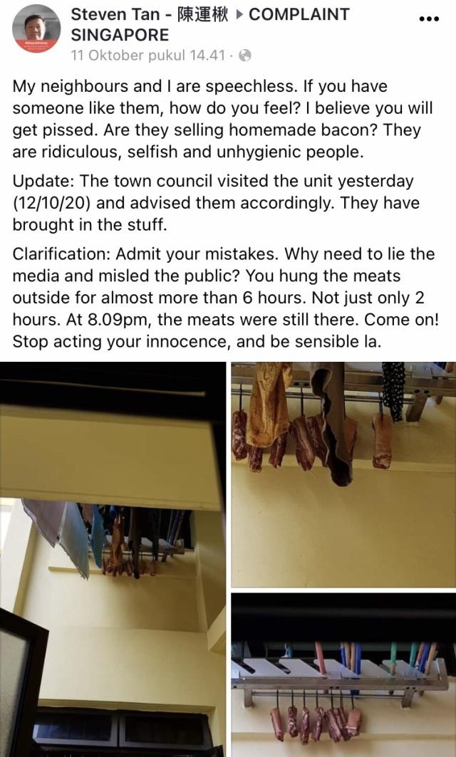 Viral! Orang Ini Protes karena Tetangganya Jemur Daging Babi Mentah Sembarangan (556268)
