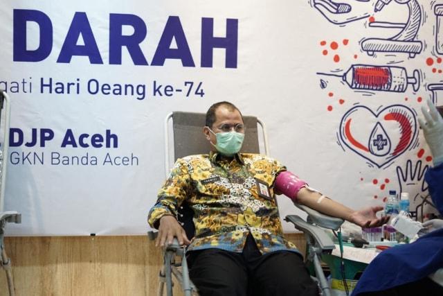 Sambut Hari Oeang ke-74, Perwakilan Kemenkeu Aceh Gelar Donor Darah (129223)