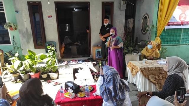 Ibunda Bobby Nasution Kampanyekan Anaknya ke Ibu-ibu Pengajian di Medan (95891)