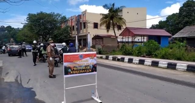 Denda Rp 45 Juta Dikumpul dari 2.626 Pelanggar Operasi Masker di Kota Sorong (33708)