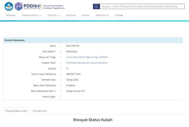 Pendidikan Rini Pratiwi, Anggota DPRD Tanjungpinang, Tersangka Pemalsuan Ijazah (358955)