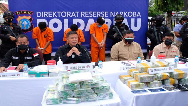 Kapolda Riau soal Polisi Kurir Sabu 16 Kg: Dia Adalah Pengkhianat Bangsa (2161)