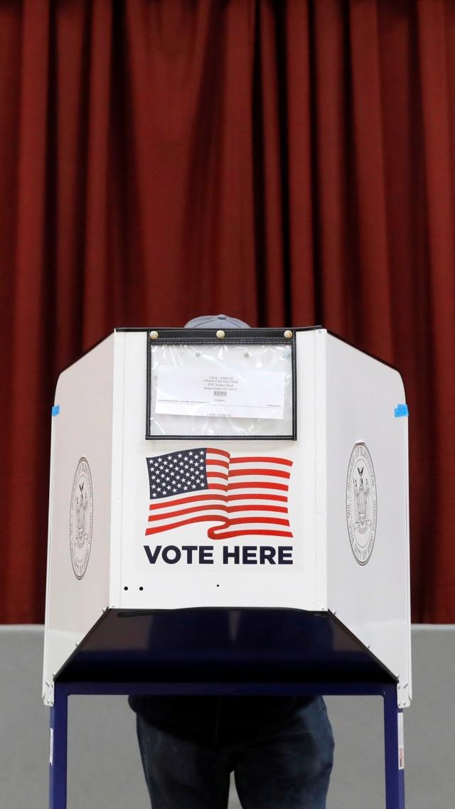 Foto: Potret Pemungutan Suara Awal Pemilu AS di  New York (102245)