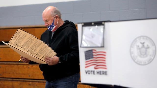 Foto: Potret Pemungutan Suara Awal Pemilu AS di  New York (102246)