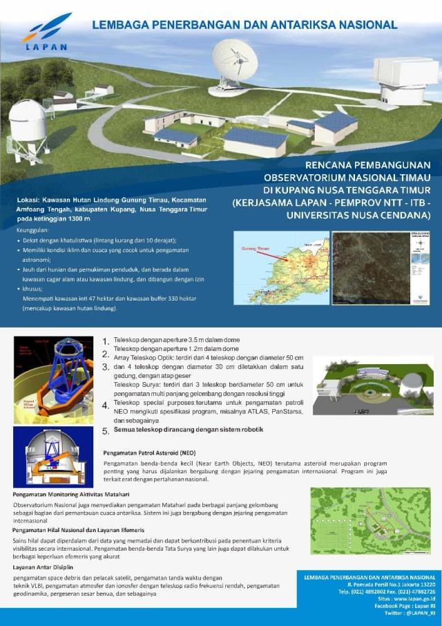 Indonesia Bikin Observatorium Terbesar di Asia Tenggara, Punya Teleskop Besar (2)
