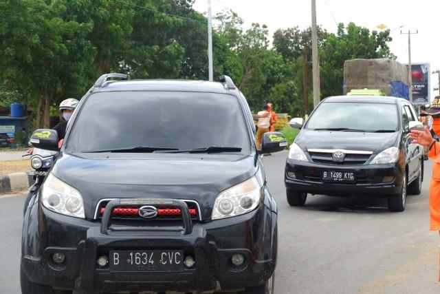 Foto: Rapid Test di Dua Perbatasan Bandar Lampung Jelang Libur Panjang (22677)