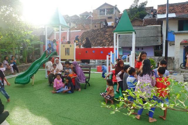 Tempat Kumuh di Gunung Sari, Bandar Lampung Diubah Jadi Taman Bermain Anak (93480)