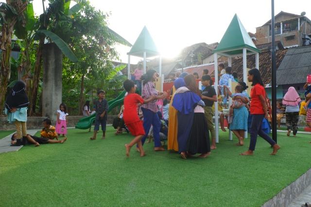 Tempat Kumuh di Gunung Sari, Bandar Lampung Diubah Jadi Taman Bermain Anak (93482)