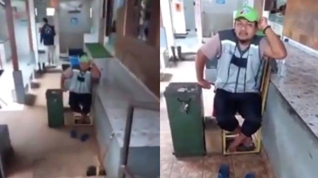 Penjaga Toilet SPBU Lecehkan Perempuan, Santai Banget saat Diinterogasi (7437)