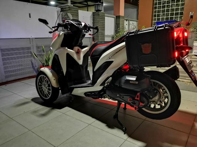 Unik! Honda Vario Ini Punya 3 Roda, Modal Modifikasi Rp 12 Jutaan (84241)