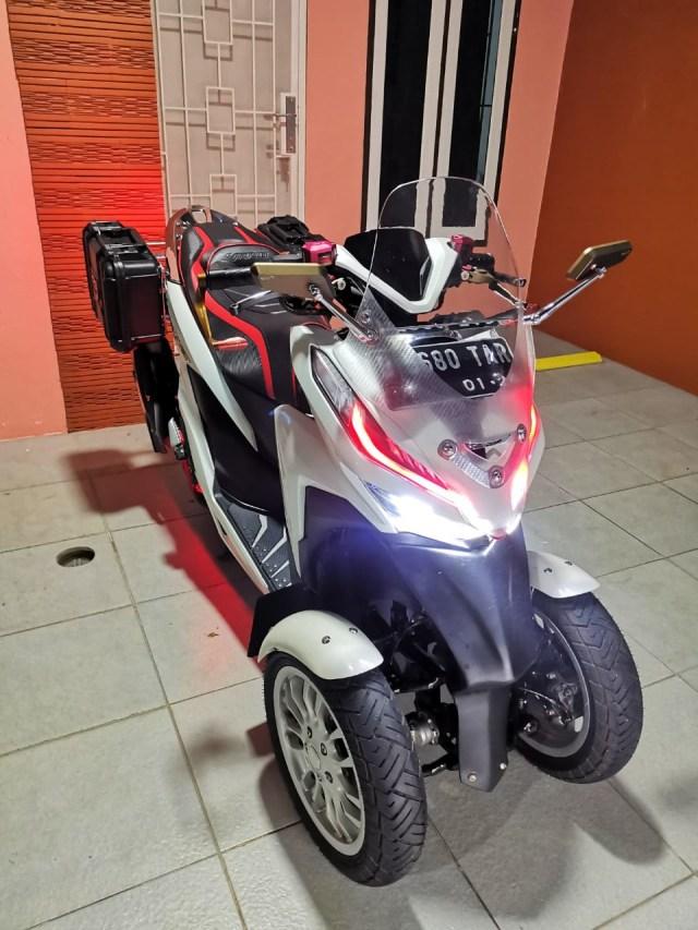 Unik! Honda Vario Ini Punya 3 Roda, Modal Modifikasi Rp 12 Jutaan (84238)