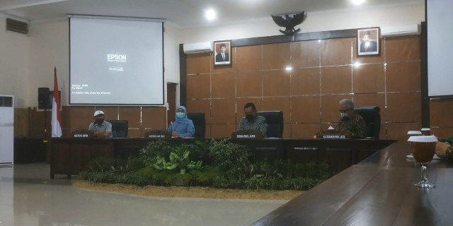 SPSI di Kantor Bakorwil, Malang.