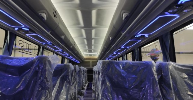 Bus Mercedes-Benz Baru PO Sudiro Tungga Jaya Bisa Angkut Sepeda Motor (50890)