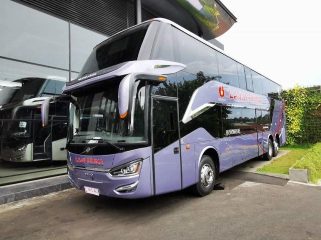 Intip Kemewahan Bus Double Decker Laju Prima, Punya Sunroof! (254)