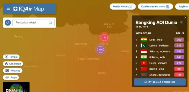 Langit Jakarta Berkabut Pagi Ini, Kualitas Udara Tidak Sehat Ketiga Dunia (11575)