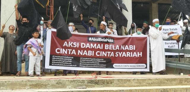 Aksi Bela Nabi, Umat Muslim Kota Sorong Boikot Produk Perancis (16360)