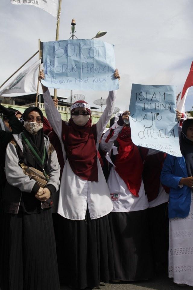 Aksi Bela Nabi di Aceh Barat, Massa Desak Pemerintah Boikot Produk Prancis (11176)