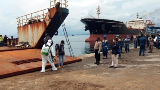 155 ABK WNI Program Repatriasi Tiba di Pelabuhan Bitung, Langsung di Karantina (243276)