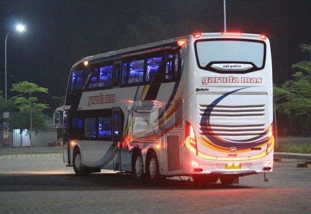 Duo Bus Tingkat Mercedes-Benz Andalan PO Garuda Mas, Punya Fasilitas Bintang 5 (219727)