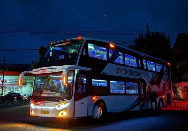 Duo Bus Tingkat Mercedes-Benz Andalan PO Garuda Mas, Punya Fasilitas Bintang 5 (219724)