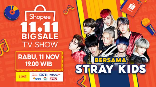 Jadi Brand Ambassador, Stray Kids akan Meriahkan Puncak Shopee 11.11 Big Sale (578085)