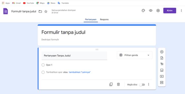 Cara Membuat Formulir Google untuk Kehadiran Siswa (2)