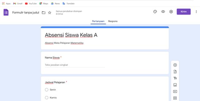 Cara Membuat Formulir Google untuk Kehadiran Siswa (7)