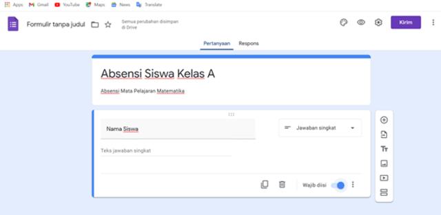 Cara Membuat Formulir Google untuk Kehadiran Siswa (4)