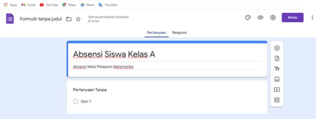 Cara Membuat Formulir Google untuk Kehadiran Siswa (3)