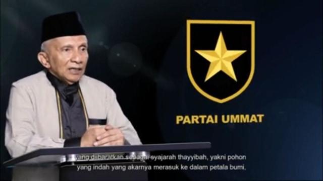 Amien Rais Launching Logo Partai Ummat: Perisai Tauhid dan Bintang (381716)