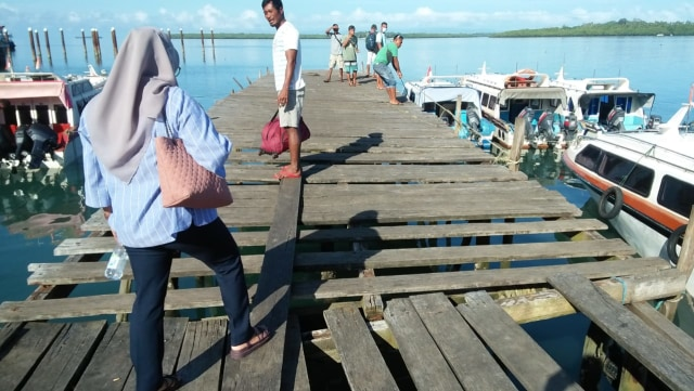 Dermaga Pelabuhan Speedboat di Morotai Bahayakan Penumpang (44888)