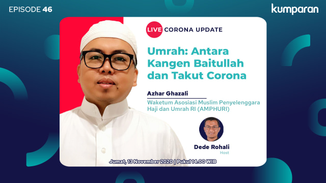 Live Corona Update: Umrah, Antara Rindu Baitullah dan Takut Corona (11543)
