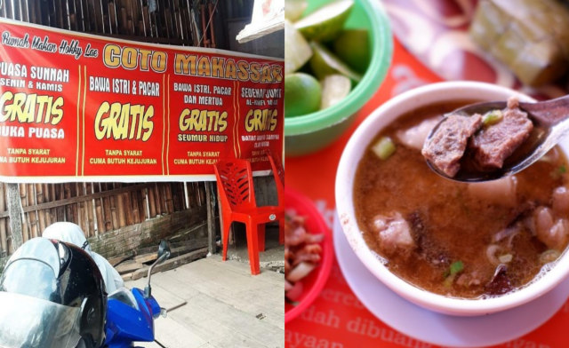 Kamu Bisa Makan Gratis Seumur Hidup di Warung Coto Makassar Ini, Lihat Syaratnya (107785)